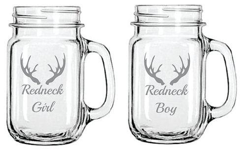 Redneck Girl / Redneck Boy Set of 2