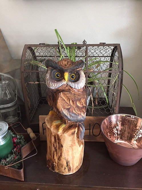 Owl Chainsaw Carving
