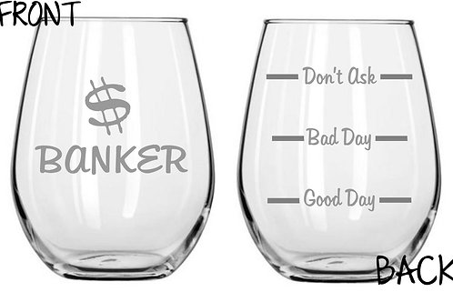 Banker Personalized Glass Gift
