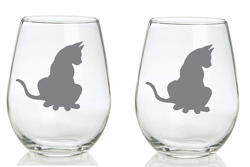 Cat Personalized Glass