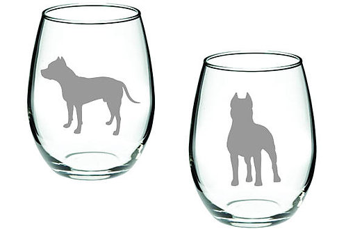 Pit Pull Set Personalized GLass Set