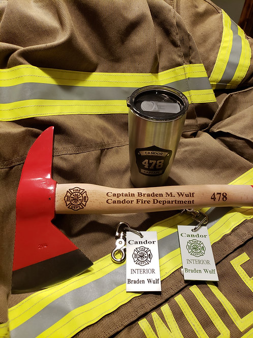 firefighter personalized axe
