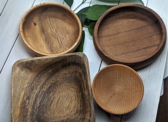 Acacia Wood Bowls:  Soap/Face Mask/Shave