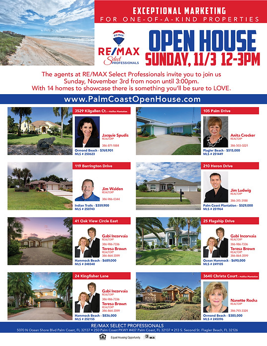 ReMax Palm Coast Open House Event 10-201
