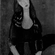 Modigliani - Portrait of wife Jeanne Hebutern