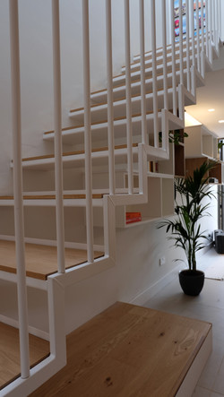 Ramilles Stairs white oak and steel