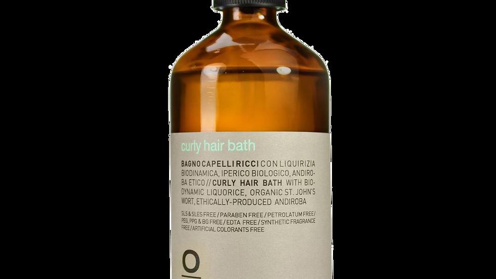curly hair bath