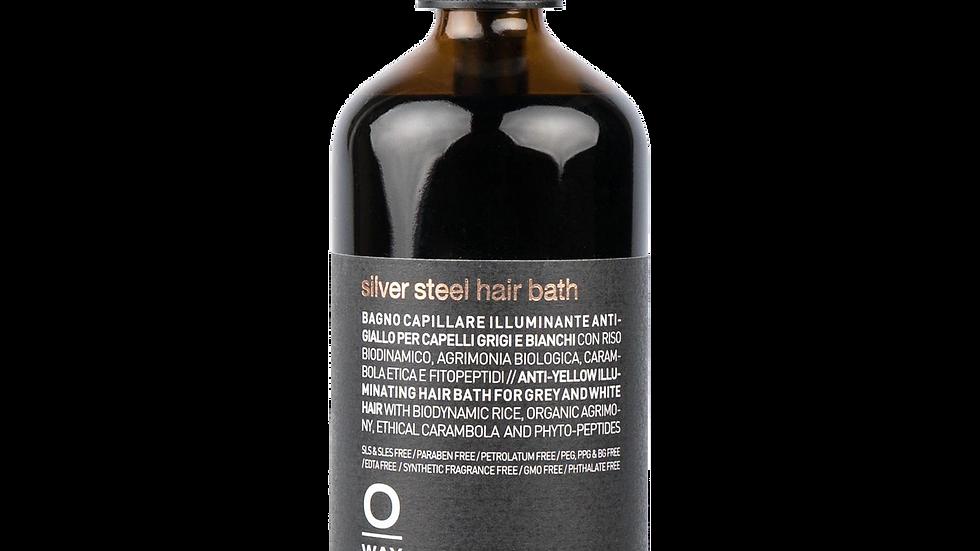 silver steel hair bath