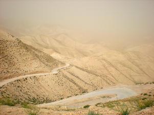 Mountain roads in the Negev, Israel