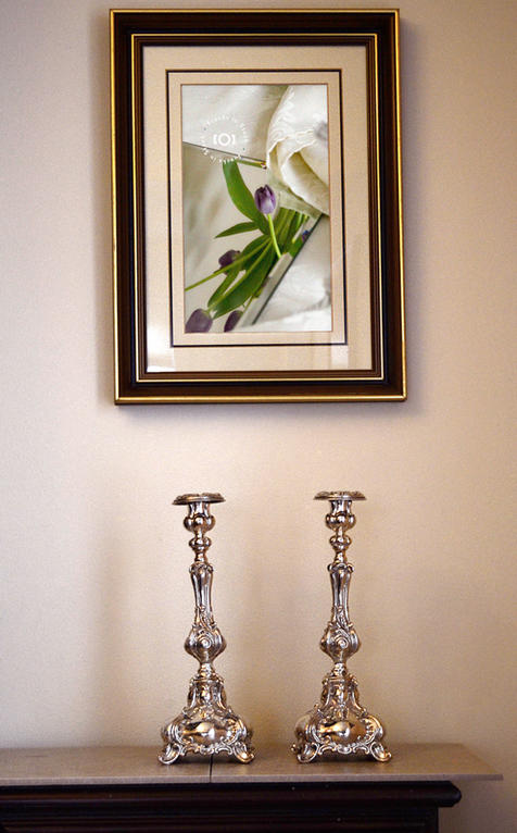 Picture Frame Above Candlesticks  |  $6.99