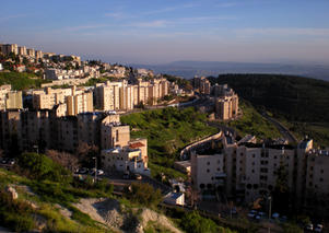 Sunset view of the city of Tzfat, Israel