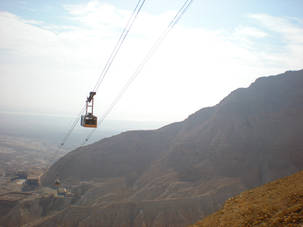 Cable car going down from Mesada, Israel (2)