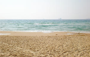 Mediterranean Ocean Beach in Eilat, Israel