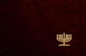 Gold menorah embellishment