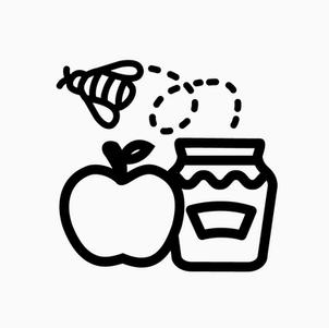 Apple, Honey and Bee