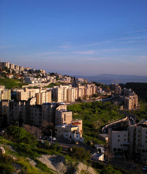 Sunset view of the city of Tzfat, Israel (2)