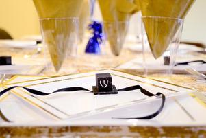 Bar Mitzvah table setting, angle 2