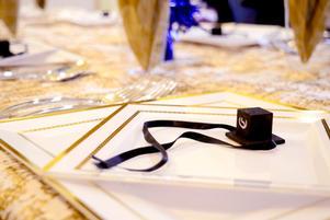 Bar Mitzvah table setting, angle 3