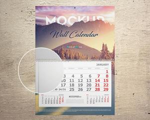 Wall And Desk Calendar Mockups Set – 5 Free PSD Mockups