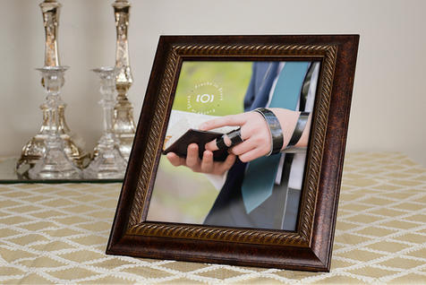 Picture Frame Mockup by Shabbos Candles, Right View | $6.99
