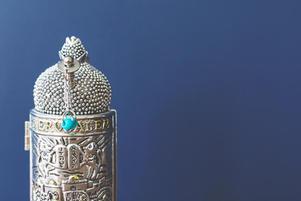 Sefer Torah in silver case