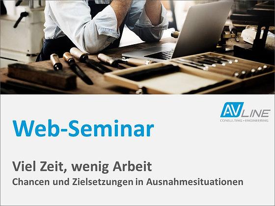 Web-Seminar Aufzeichnung: Viel Zeit, wenig Arbeit