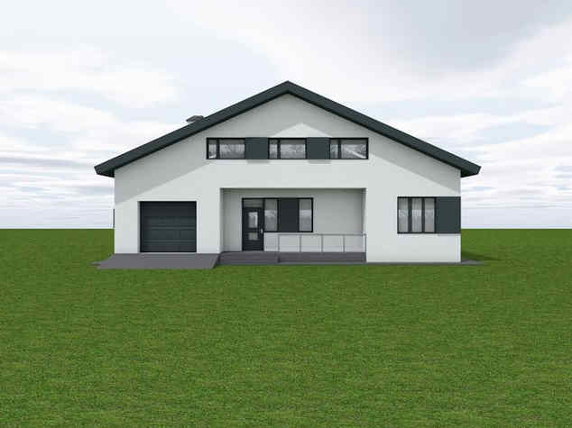 One-story pitched house