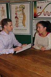 First visit. Adam Kay Chiropractor Ginelle Kay Osteopath Radlett