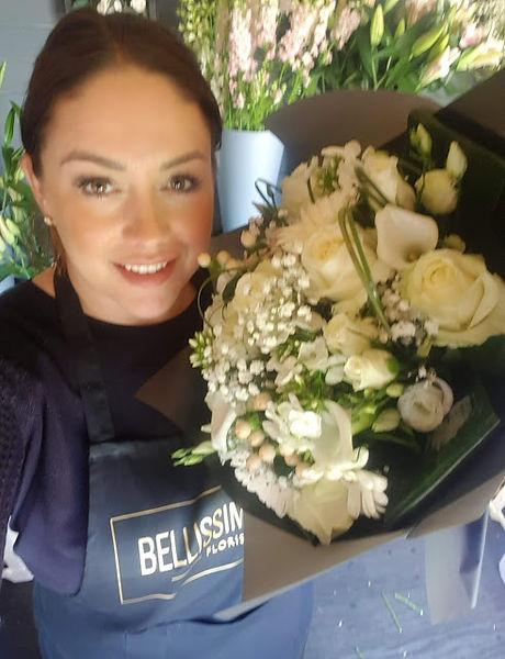 white bouquet selfie.jpg
