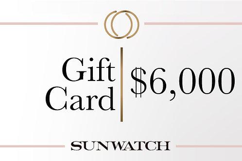 Gift Card $6,000 MXN.
