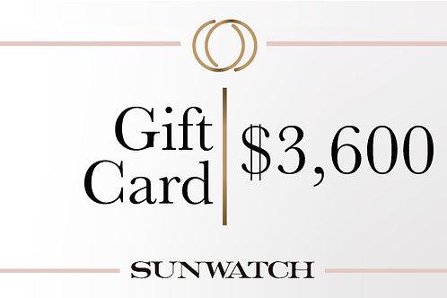 Gift Card $3,600 MXN.
