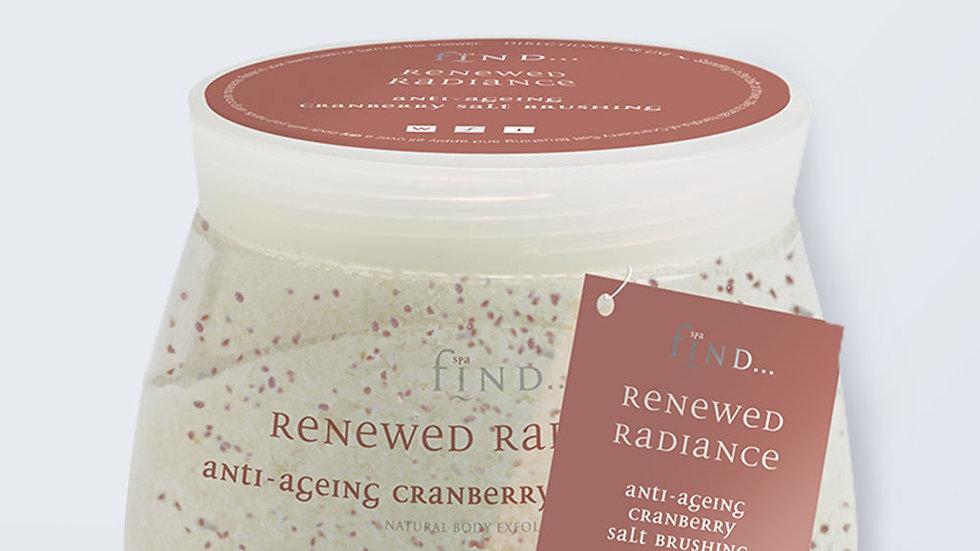 Spa Find Renewed Radiance Anti Aging Cranberry  Salt Brushing