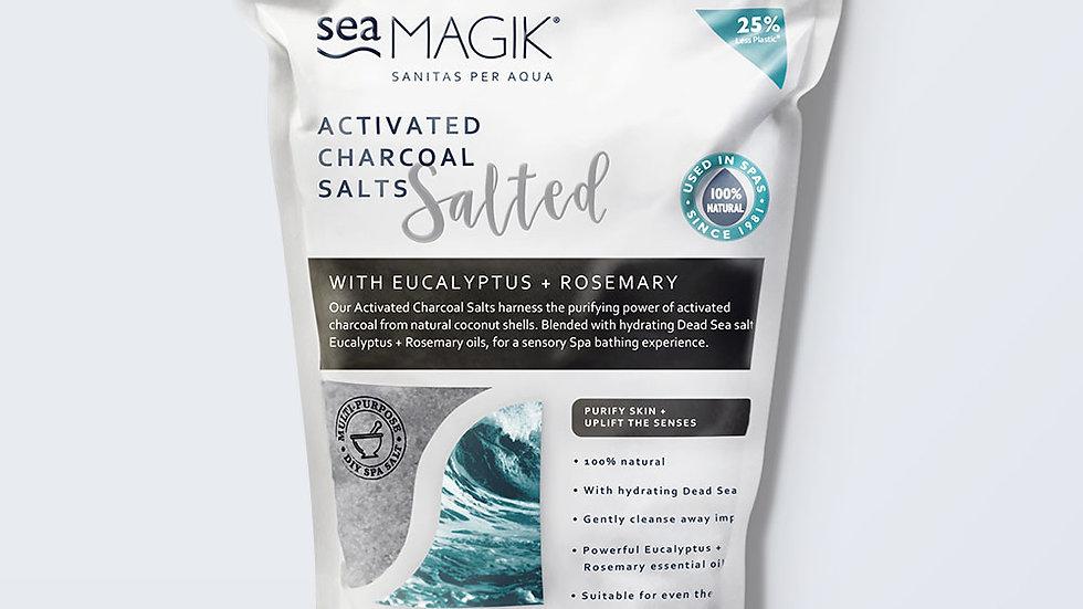 Sea Magik Activated Charcoal Spa Salts 1KG
