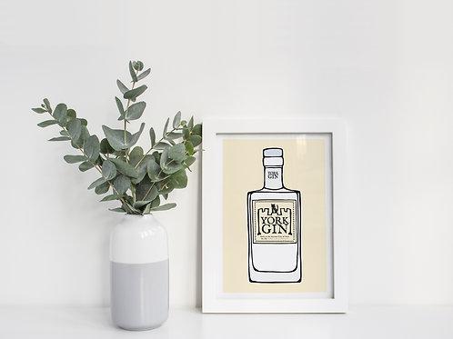A4 York Gin Original Print