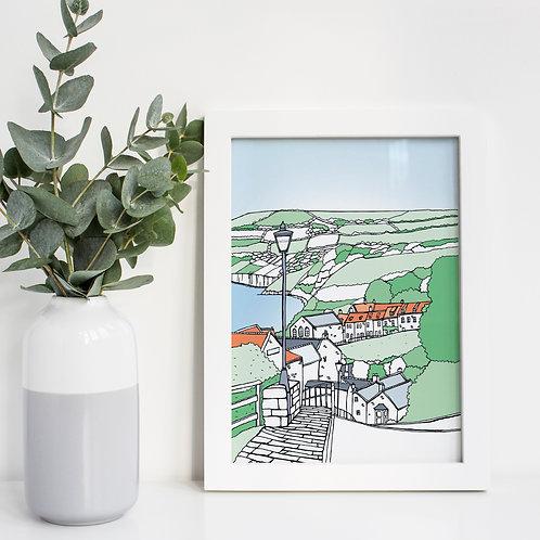 A4 Robin Hood's Bay Print