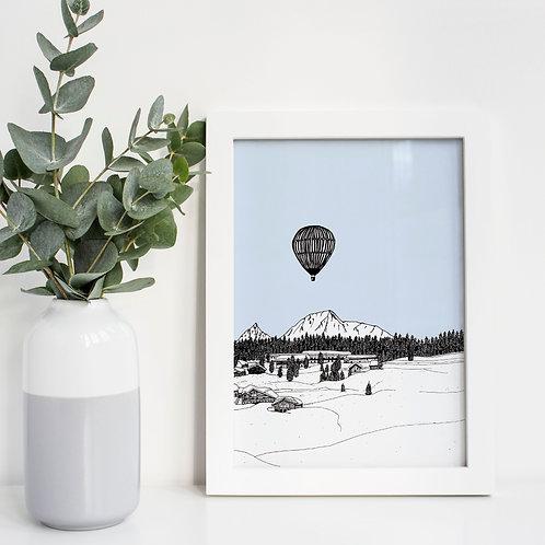 A4 Alps Print