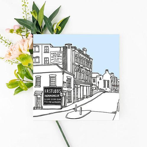 Walmgate, York Greetings Card