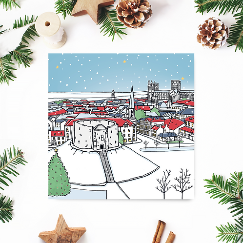 Clifford's Tower Christmas Card