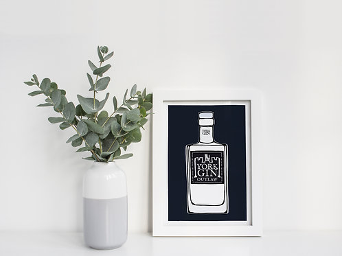 A4 York Gin Outlaw Print