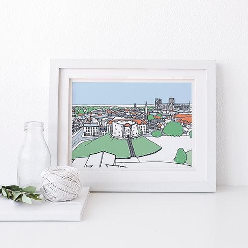 A4 Clifford's Tower Print
