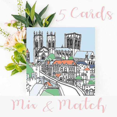 5 Greetings Cards