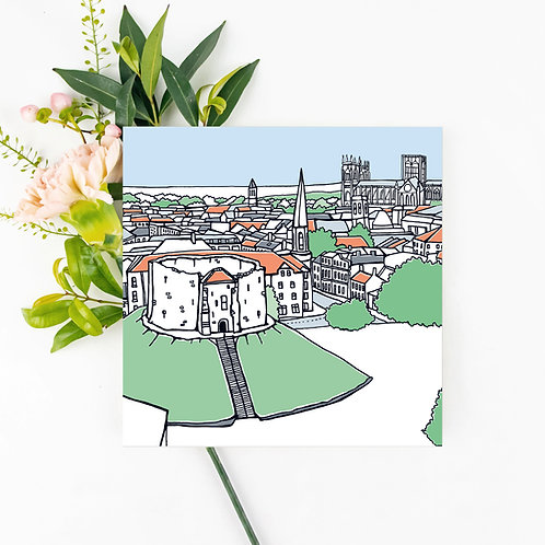 Clifford's Tower Greetings Card