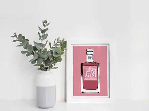 A4 York Gin Roman Fruit Print