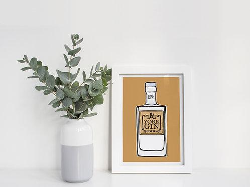 A4 York Gin Cocoa Print