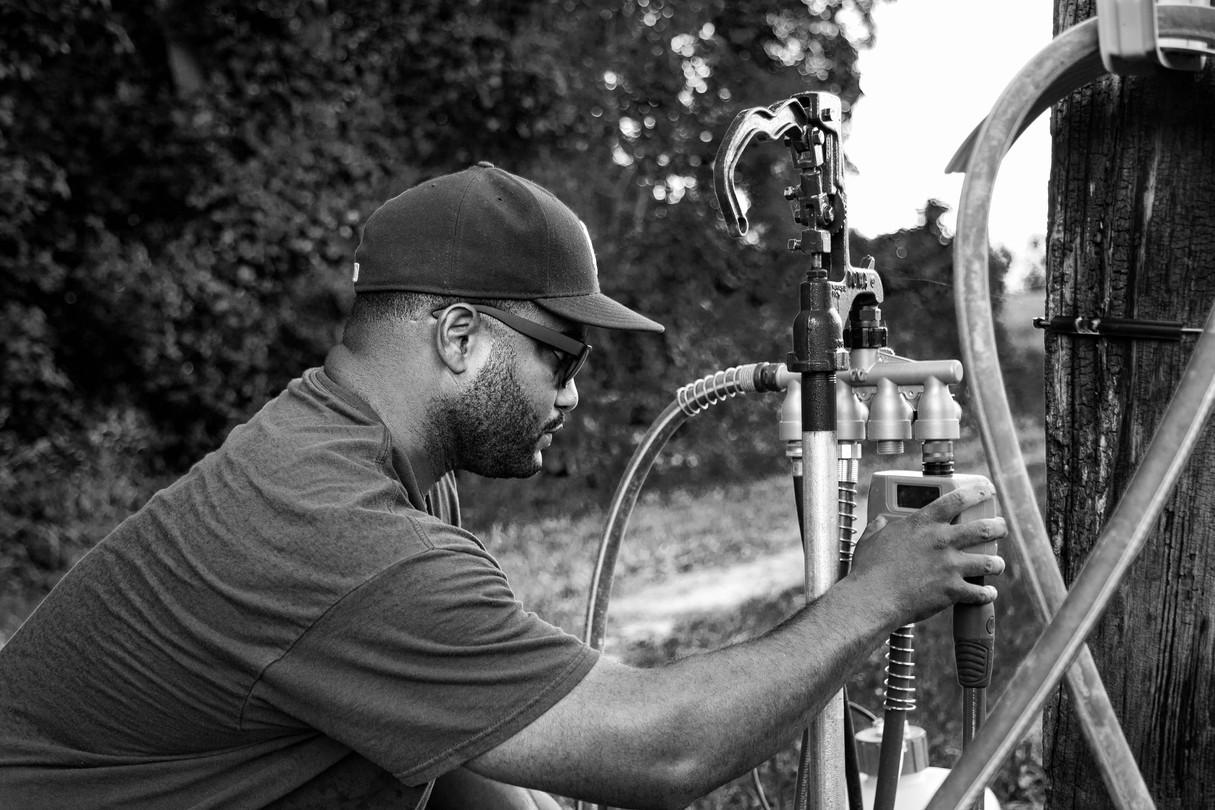 Herb Jr., Adjusting the Irrigation