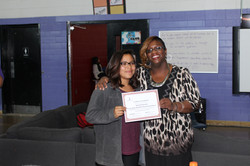 Ms. Electa Ricketts with Student