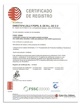 Certificado de registro FSSC 2000