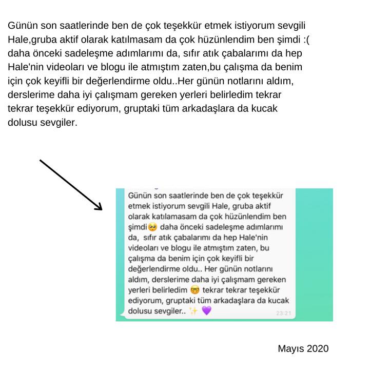 Mayıs 2020 Sadeleşerek Özgürleş Çalışması