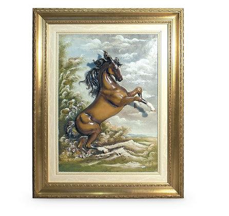 Rampant horse