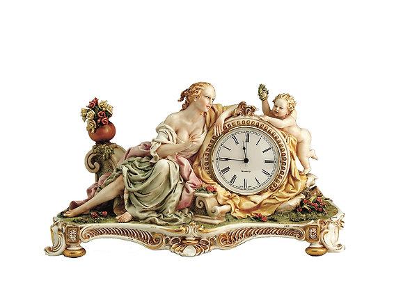 Lady with cherub - Clock